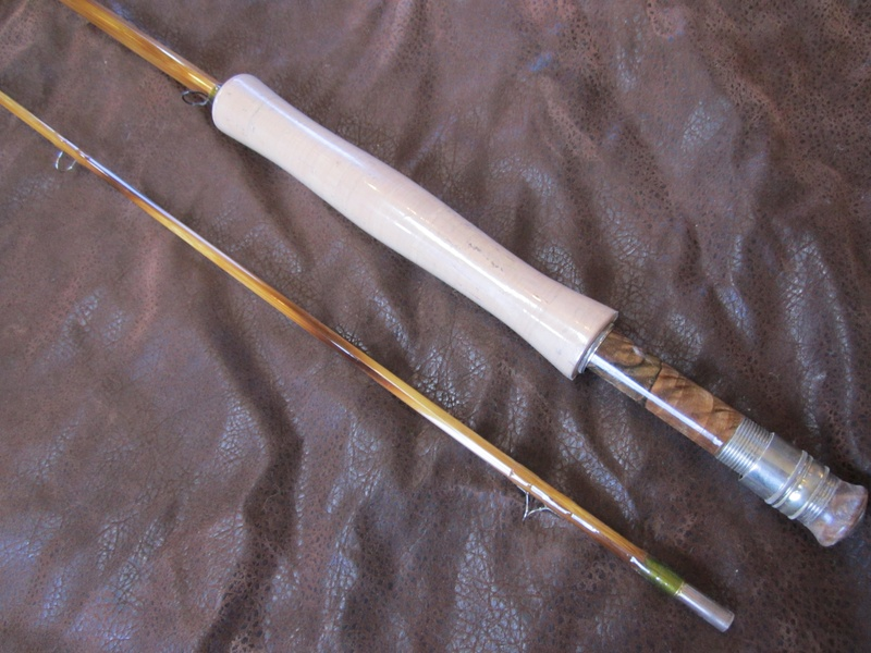 8' 7wt Deluxe single tip bamboo rod $800.00